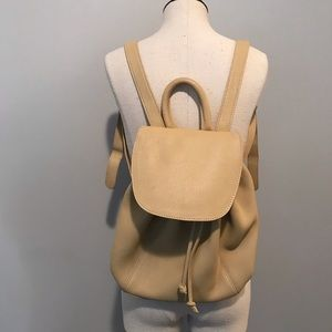 Coach Leather Tan Backpack Vintage 4911 Drawstring